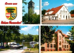 AK / Ansichtskarte Hohen Neuendorf Wasserturm Bahnhof Hafen Schule Kat. Hohen Neuendorf