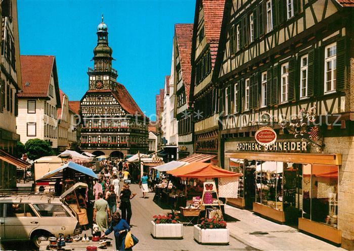 Bad Kirchheim Teck ak ansichtskarte kirchheim teck markt kirchheim unter teck nr