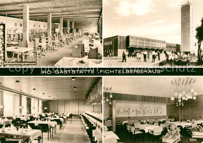 AK / Ansichtskarte Oberwiesenthal Erzgebirge HO Gaststaette Fichtelberghaus  Kat. Oberwiesenthal 0