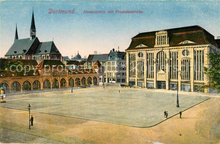 AK / Ansichtskarte Dortmund Hansaplatz Propsteikirche Kat. Dortmund