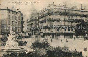 AK / Ansichtskarte Montpellier Herault Place de Praefecture Rue Nationale Kat. Montpellier