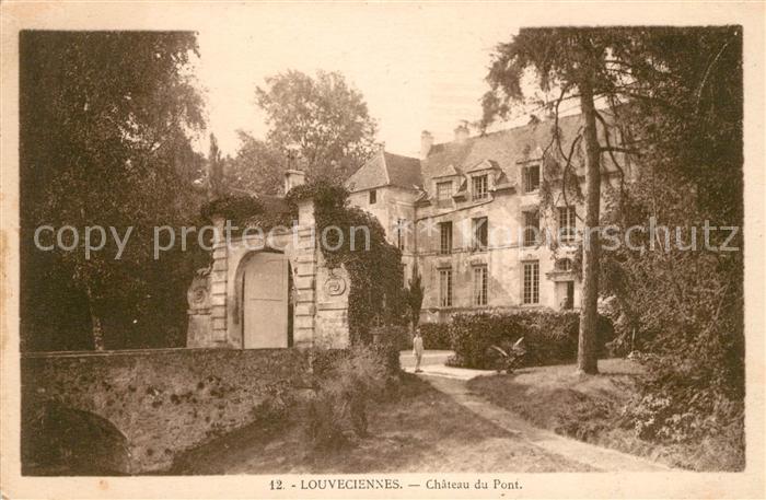 AK / Ansichtskarte Louveciennes Chateau du Pont Kat. Louveciennes