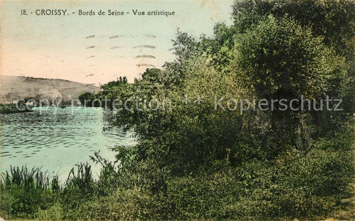 AK / Ansichtskarte Croissy sur Seine Bords de Seine vue artistique Kat. Croissy sur Seine