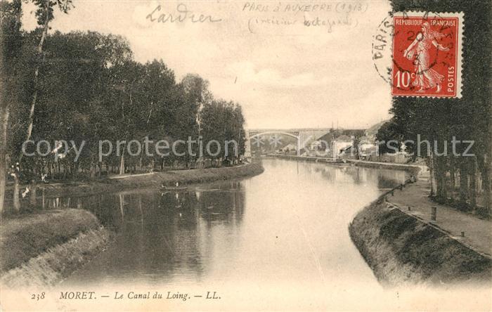 AK / Ansichtskarte Moret sur Loing Partie am Fluss Kat. Moret sur Loing
