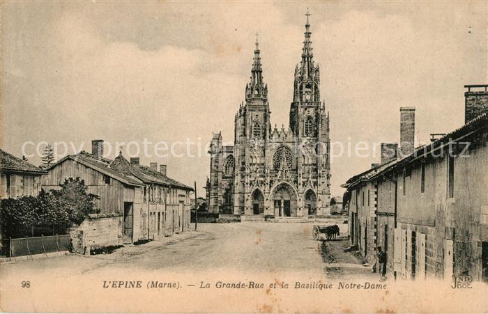 AK / Ansichtskarte Lepine Grande Rue et la Basilique Notre Dame Kat. Lepine