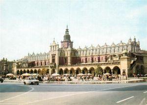 AK / Ansichtskarte Krakow Krakau Rynek Glowny Sukiennice