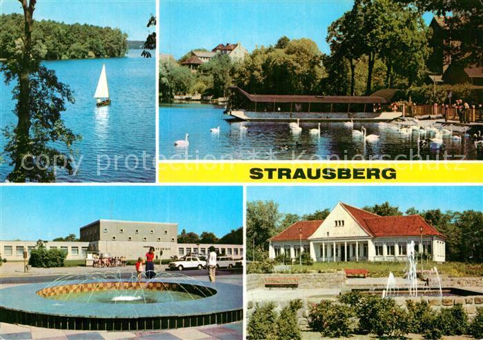AK / Ansichtskarte Strausberg Brandenburg Am Straus See Haus der NVA Klub am See Park der Solidaritaet Kat. Strausberg 0