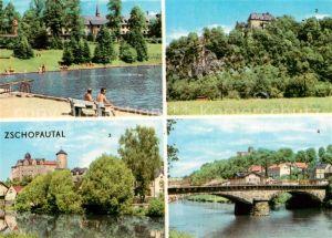 AK / Ansichtskarte Zschopautal Wolkenstein Warmbad Schloss Zschopau Schloss Wildeck Scharfenstein Schlossblick Kat. Zschopau