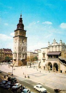 AK / Ansichtskarte Krakow Krakau Rynek Glowny Wieza Ratuszowa