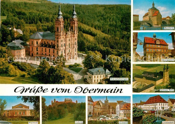 Ak lichtenfels hotel krone wallfahrtskirche for Bamberg design hotel
