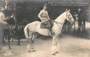 AK / Ansichtskarte Adel Preussen Kronprinz Wilhelm  Kat. Koenigshaeuser