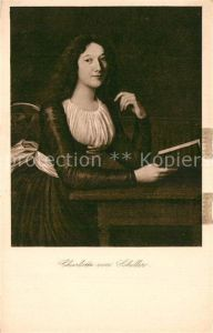 AK / Ansichtskarte Schiller Friedrich Charlotte von Schiller  Kat. Dichter