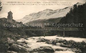 AK / Ansichtskarte Lanslebourg Mont Cenis Eglise Passerelle Declaux Grand Mont Cenis Glacier Kat. Lanslebourg Mont Cenis