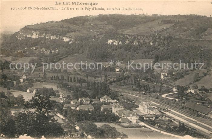 AK / Ansichtskarte Saint Denis les Martel La Gare et le Puy d Issolu Kat. Saint Denis les Martel
