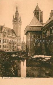 AK / Ansichtskarte Braunschweig Motiv am Burggraben Kat. Braunschweig