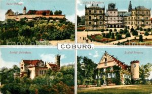 AK / Ansichtskarte Coburg Veste Schloss Ehrenberg Schloss Rosenau Schloss Callenberg Kat. Coburg