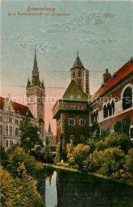 AK / Ansichtskarte Braunschweig Burg Dankwarderode mit Burggraben Kat. Braunschweig