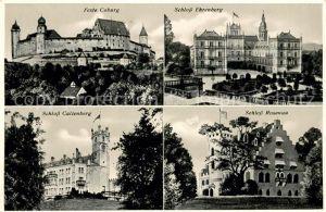 AK / Ansichtskarte Coburg Veste Schloss Ehrenburg Schloss Rosenau Schloss Callenberg Kat. Coburg