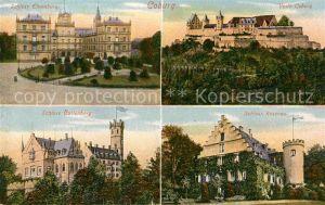 AK / Ansichtskarte Coburg Schloss Ehrenburg Veste Coburg Schloss Rosenau Schloss Callenberg Kat. Coburg