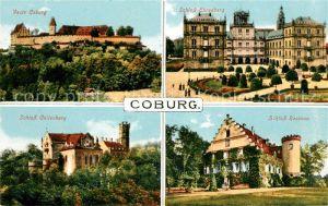 AK / Ansichtskarte Coburg Veste Coburg Schloss Ehrenberg Schloss Rosenau Schloss Callenberg Kat. Coburg