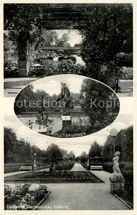 AK / Ansichtskarte Coburg Deutsche Gartenschau Sintflutbrunnen Kat. Coburg