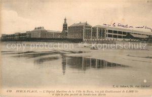AK / Ansichtskarte Berck Plage Hopital Maritime de la Ville de Paris