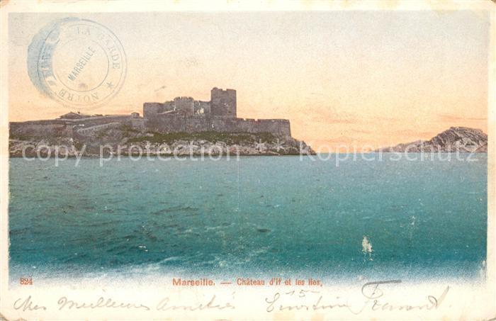 AK / Ansichtskarte Marseille Bouches du Rhone Chateau d If et les Iles