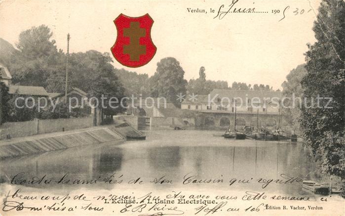AK / Ansichtskarte Verdun Meuse Ecluse Usine Electrique Kat. Verdun