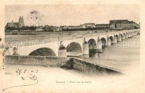 AK / Ansichtskarte Tours Indre et Loire Pont sur la Loire Kat. Tours