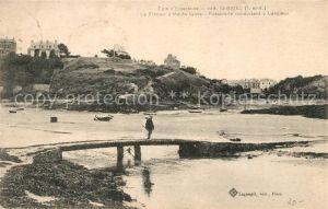 AK / Ansichtskarte Saint Briac sur Mer Le Remur a maree basse Passerelle conduisant a Lancieux Kat. Saint Briac sur Mer