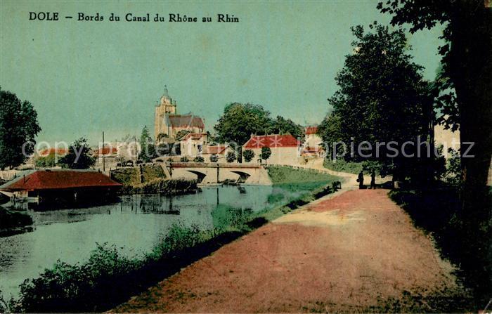 AK / Ansichtskarte Dole Jura Bords du Canal du Rhone au Rhin Kat. Dole