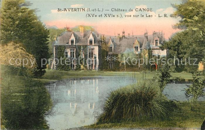 AK / Ansichtskarte Saint Avertin Chateau de Cange Kat. Saint Avertin