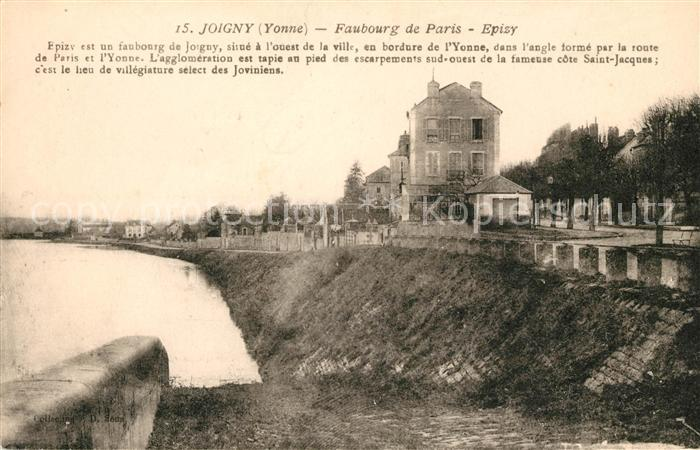 AK / Ansichtskarte Joigny Yonne Faubourg de Paris Epizy Kat. Joigny