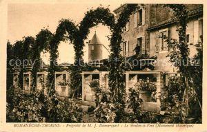 AK / Ansichtskarte Romaneche Thorins Moulin a Vent Monument historique Kat. Romaneche Thorins