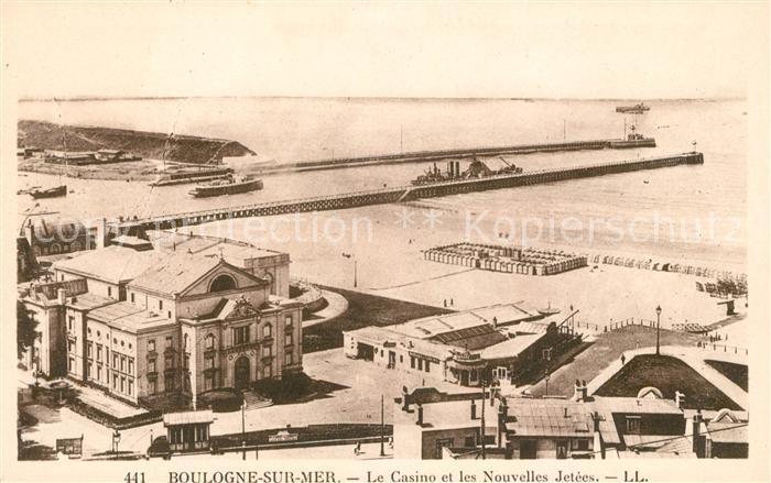 AK / Ansichtskarte Boulogne sur Mer Le Casino et les Nouvelles Jetees Kat. Boulogne sur Mer