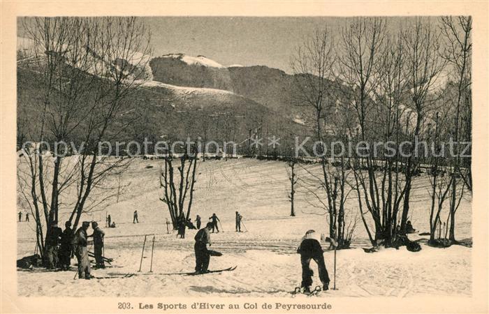 AK / Ansichtskarte Luchon Haute Garonne Sports d Hiver au Col de Peyresourde Kat. Bagneres de Luchon