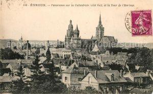 AK / Ansichtskarte Evreux Panorama sur la Cathedrale et la Tour de l Horloge Kat. Evreux