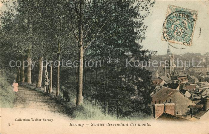 AK / Ansichtskarte Bernay Sentier descendant des Monts Kat. Bernay