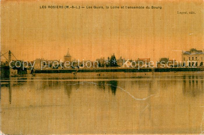 AK / Ansichtskarte Les Rosiers sur Loire Les Quais la Loire et l ensemble du Bourg Kat. Les Rosiers sur Loire