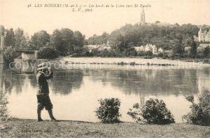 AK / Ansichtskarte Les Rosiers sur Loire Les bords de la Loire vers Saint Eusebe Kat. Les Rosiers sur Loire