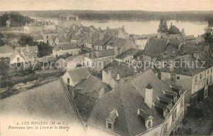 AK / Ansichtskarte Les Rosiers sur Loire Panorama vers la Loire et la Mairie Kat. Les Rosiers sur Loire
