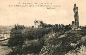 AK / Ansichtskarte Rochefort sur Loire Ruines du Chateau de Saint Offange vers le Chateau de Saint Symphorien Kat. Rochefort sur Loire