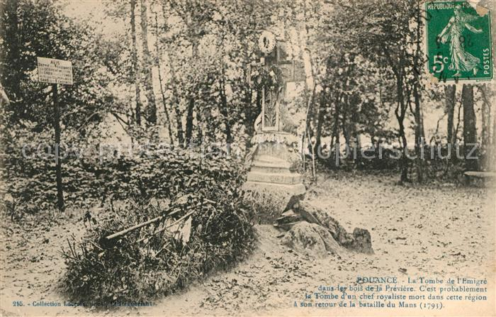 AK / Ansichtskarte Pouance La Tombe de l Emigre dans les bois de la Previere Kat. Pouance