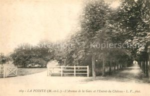 AK / Ansichtskarte La Pointe Bouchemaine Avenue de la Gare et l Entree du Chateau Kat. Bouchemaine
