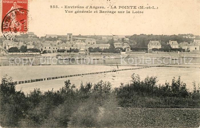 AK / Ansichtskarte La Pointe Bouchemaine Vue generale et Barrage sur la Loire Kat. Bouchemaine