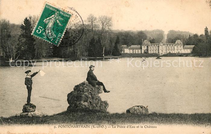 AK / Ansichtskarte Pontchartrain Jouars La Piece d Eau et le Chateau