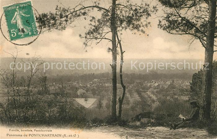 AK / Ansichtskarte Pontchartrain Jouars Panorama