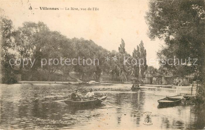 AK / Ansichtskarte Villennes sur Seine La Rive vue de l Ile Kat. Villennes sur Seine