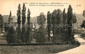AK / Ansichtskarte Senlisse Entree du Village et Route de Cernay Vallee de Chevreuse Kat. Senlisse