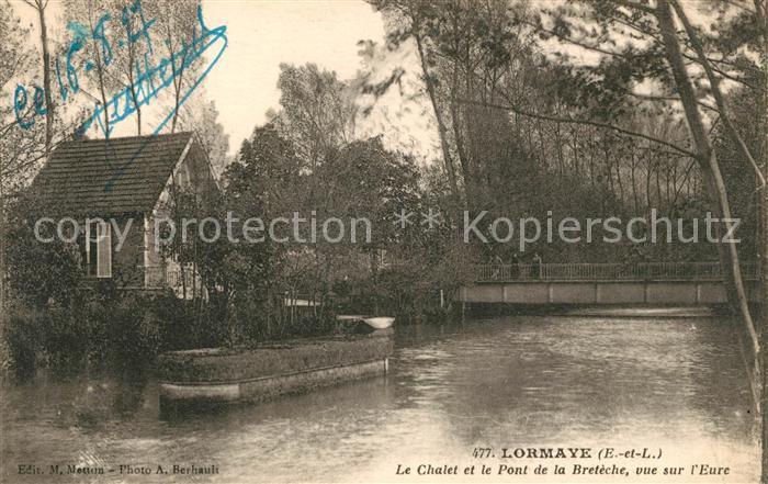 AK / Ansichtskarte Lormaye Chalet et le Pont de la Breteche vue sur l Eure Kat. Lormaye